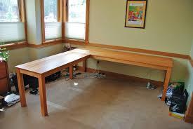 solid cherry flatiron l shape desk