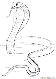 cobra drawing for kids.  Kids How To Draw A King Cobra  Step By Step Drawing Tutorials Tutorials  For Kids Inside