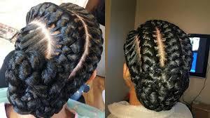 Black Braided Bun Hairstyles Stunning Goddess Braids Hairstyles For Black Women Hairstyles
