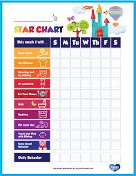 Printable Kids Star Behavior Chart Delta Children