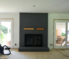 Painted Brick Fireplace Wood Mantle Ators Ating Ator Painting Ideas  Pictures Before And After