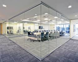 glass office wall. series clear view glass wall office system