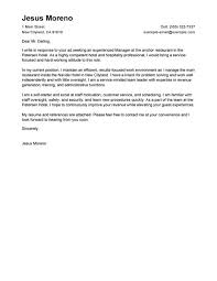 Cover Letter Examples Hotel Industry Adriangatton Com