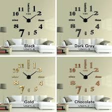 Small Picture Mirror Wall Clock Large Uk shopwizme