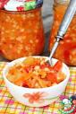 Салат из помидоров и перловки на зиму