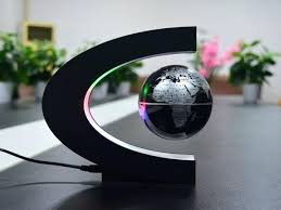 um size of globe for office desk add a magnetic floating to your desktop