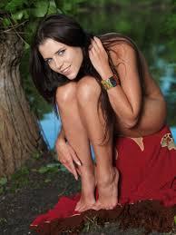 Nature loving brunette Valeria A devotes herself to softcore porn.