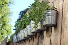 diy hanging fence herb garden diy