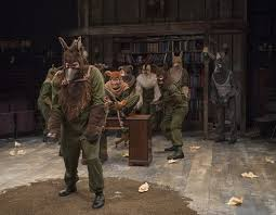 review animal farm steppenwolf theatre chicago theater beat matt kahler mildred langford jasmine bracey amelia hefferon lance newton lucy