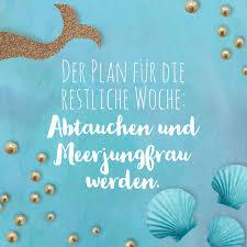 Der Plan Für Die Restliche Woche Abtauchen Und Meerjungfrau Werden