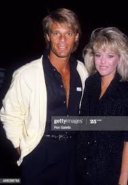 Actor Adam Mills and date on December 18, 1985 dine at Spagos in West...  News Photo - Getty Images
