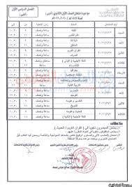 جدول امتحان الصف الأول الثانوي الأزهري الترم الأول 2021