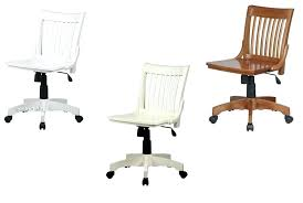 armless bankers desk chair white wooden swivel desk chair a looking for lacquered finish mission style
