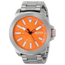boss orange men s 1513007 new york analog display quartz silver watch hugo boss orange men s 1513007 quartz silver watch