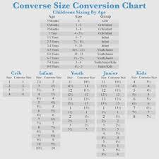 Converse Kids Size Chart Converse Youth Size Chart