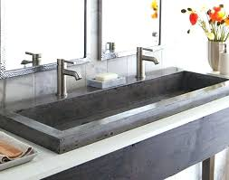 trough bathroom sinks trough sink two faucets perfect grey textured trough bathroom sink with two faucets