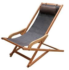 outdoor sling chairs. Amazon.com : Outdoor Interiors Sling And Eucalyptus Lounger With Pillow Garden \u0026 Chairs .