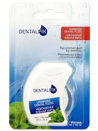 <b>Зубная нить</b> Денталпик <b>Floss</b> Mint Unwaxed, мятная не вощеная ...