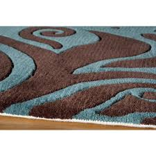 momeni new wave 88 turquoise contemporary wool rug nw 88turquoise