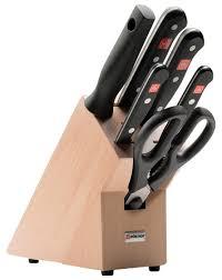 Набор Wusthof <b>Gourmet</b> 4 <b>ножа</b>, ножницы и мусат с подставкой ...