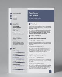 Slate Blue Modern Double Page Cv Resume