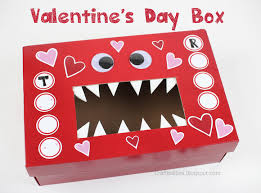 Valentine Shoe Box Decorating Ideas MONSTER Valentine's Day Box SchoolClassroom IDEA Free 37