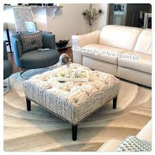 square tufted ottoman coffee table square tufted ottoman medium size of coffee coffee table ottoman leather
