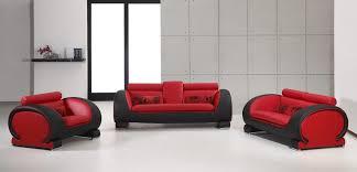2811 red black bonded leather sofa set