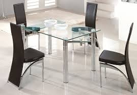 image of expandable glass dining table rectangular