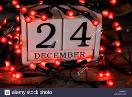 Christmas Eve 24th December Date On Calendar Stock Photo
