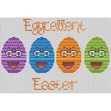 Chart House Easter Eggcellent Easter Downloadable Cross Stitch Chart