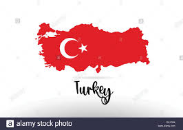 Design A Country Turkey Country Flag Inside Country Border Map Design