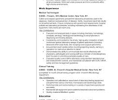 Generous Lab Tech Resume Images Entry Level Resume Templates