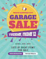Large Garage Sale Flyer Design Template In Psd Word Publisher