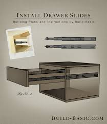 how to install sliding drawers in kitchen cabinets awesome how to install drawer slides build
