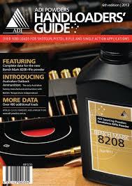 Adi Powder Reloading Chart Guide 6th Edition Adi Powders Handloaders Guide