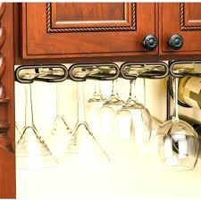 wine glass cabinet wine glass cabinet rack wine rack with glass storage in h x w d oil rubbed