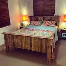 pallet bedroom furniture.  Furniture Queen Size Bed Frame Built From Recycled Pallets On Pallet Bedroom Furniture C