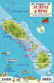 st kitts  nevis dive map  reef creatures guide franko maps