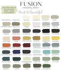 Fusion Mineral Paint Color Chart Details About Fusion Mineral Paint 50 Colours In 2019