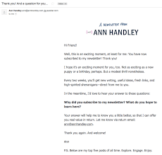 ann handley customer thank you letter