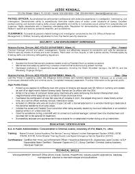 Program Security Officer Sample Resume