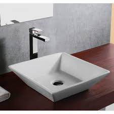 european design slope wall porcelain ceramic countertop bathroom vessel sink 16 x 16 x 4 1 2 inch