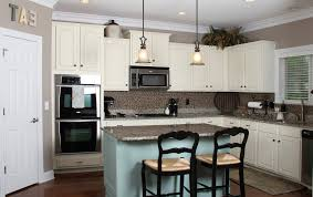 kitchen backsplash white cabinets brown countertop. Kitchen Cabinet Stunning Backsplash With White Countertops 20 Cream Color Of Cooker Hood By Double Black Barstools Cabinets Brown Countertop