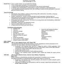 Resume For Rn Position Nursing Resume New Grad Rn Resume Sample
