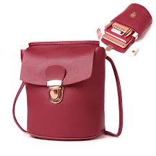 hot designer women solid faux leather bucket bags leisure cross bags lock phone bags newchic