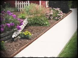 garden borders and edging ideas top eco green wood s lawn brown stone path source paving