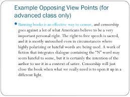 persuasive essay 9 example opposing