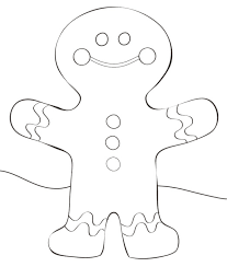 Small Picture Gingerbread Man Coloring Page