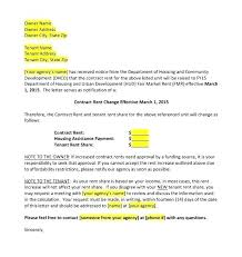 Sample Of Rent Increase Letter Rent Increase Template
